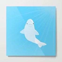 Beluga whale Metal Print