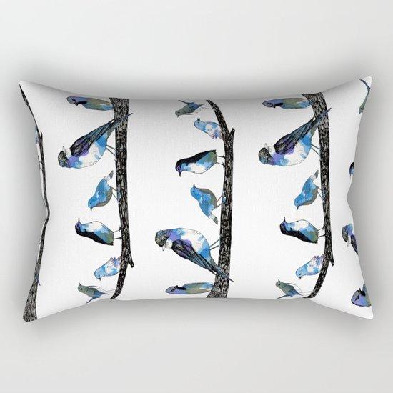 Painted Version.  Rectangular Pillow