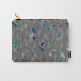 Grey Feathers Carry-All Pouch