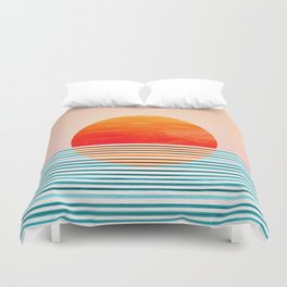 Minimalist Sunset III Duvet Cover