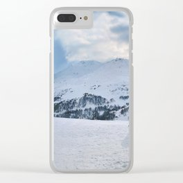 Ski Resort Mountain Landscape Clear iPhone Case