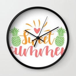 sweet summer - Adventure Design Wall Clock