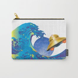Hokusai Rainbow, UFO & the Moon  Carry-All Pouch