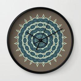 Mandala Earth 1 Wall Clock