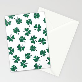 Retro Vintage St Patricks Day Green Shamrock Clover Stationery Cards