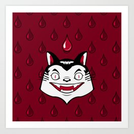 Count Dracula Von Kitteh Art Print
