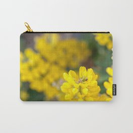 Yellow Lupin and a Ladybug Carry-All Pouch