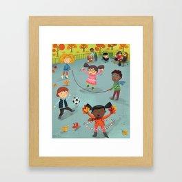 New York Fall Playground Framed Art Print