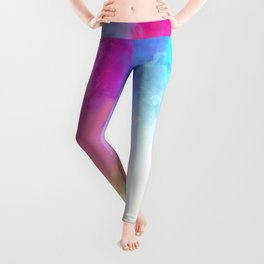Abstract Fantasy Magical Clouds Painting Leggings