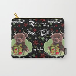 Bruno Christmas Bear (Rudolph Fan) Carry-All Pouch
