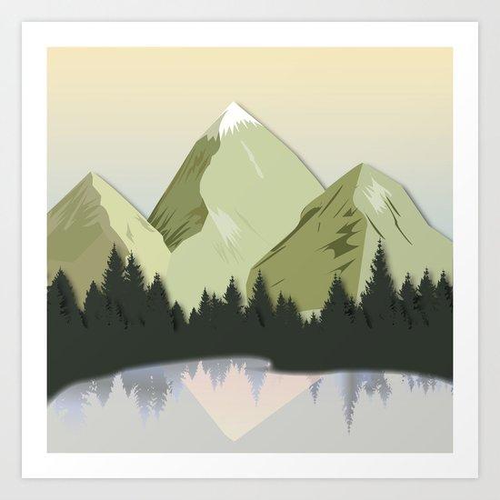 Night Mountains No. 20 Art Print