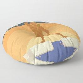 World Wonder: Colossus of Rhodes Floor Pillow