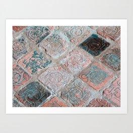 Brick Flooring of Old Mellifont Abbey Art Print