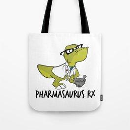Pharmasaurux Rx - Pharmacy Dinosaur Tote Bag