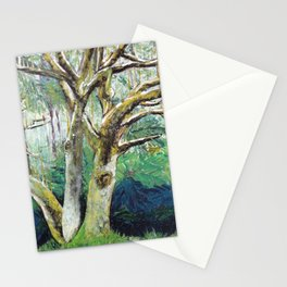 BY NATURE - Original Fine Art painting by HSIN LIN / HSIN LIN ART Stationery Cards