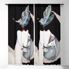 Art Deco Woman Blackout Curtain