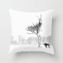 Winter Blizzard Throw Pillow