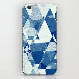 Geometric - Deko- blue iPhone Skin