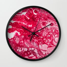 Fluid Expressions - Red Wall Clock