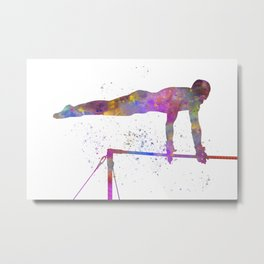 Olympic sport, barbell in watercolor Metal Print
