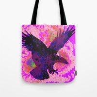eagle Tote Bags featuring eagle by giancarlo lunardon