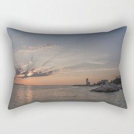 Sunbeams at Annisquam lighthouse Rectangular Pillow