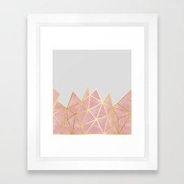 Pink & Gold Geometric Framed Art Print