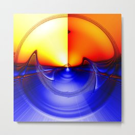sub sonic waves Metal Print