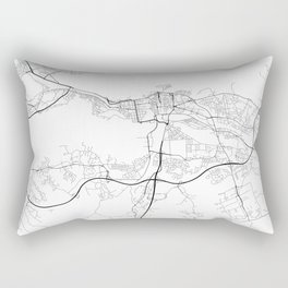 Minimal City Maps - Map Of Tampere, Finland. Rectangular Pillow