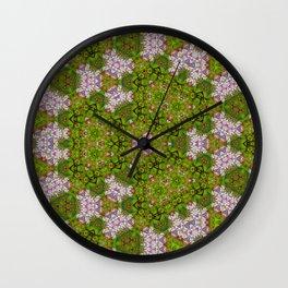 Garden pattern Wall Clock
