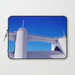 Sepulveda Dam on blue Laptop Sleeve