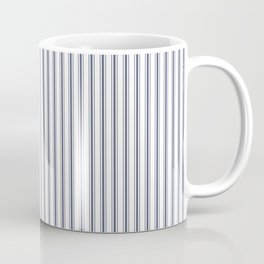 Dark Sargasso Blue Mattress Ticking Narrow Striped Pattern - Fall Fashion 2018 Coffee Mug