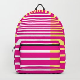 Illusions Abstract Pink & Yellow Backpack