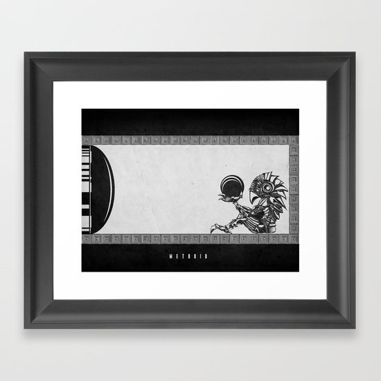 Metroid - The Chozo Geek Line Artly Framed Art Print