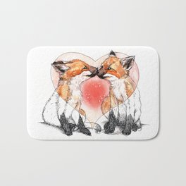 baby fox love Bath Mat