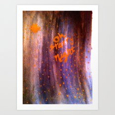Oh Starry Night Art Print