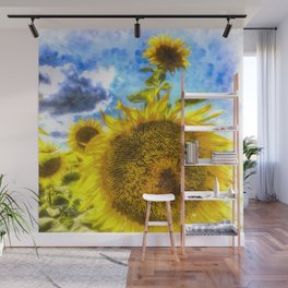 Summers Day Sunflowers Art Wall Mural