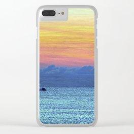 Fire Island Marina Clear iPhone Case
