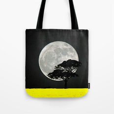 Lone Tree And Moon. Tote Bag