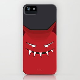 Evil Monster With Pointy Ears iPhone Case