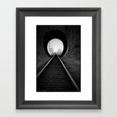 Train Track Framed Art Print