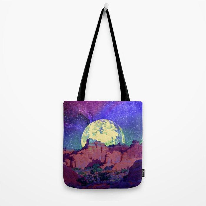 night desert landscape Tote Bag