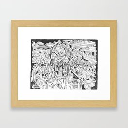 THE NAPOLEON BILLY-GOAT Framed Art Print