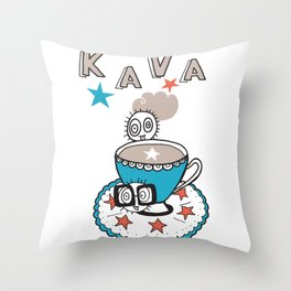 Coffee bugs Throw Pillow