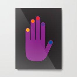 Purple Pop Hand Metal Print
