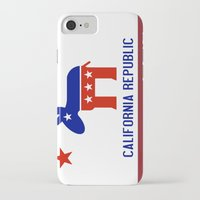political iPhone & iPod Cases featuring Political California Republic Democrat by NorCal
