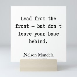 58  | Nelson Mandela  Quotes | 190818 Mini Art Print