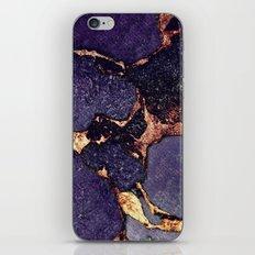 PURPLE & GOLD GEMSTONE iPhone & iPod Skin