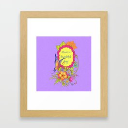 Spring Flowers and Butterfly Posy Framed Art Print