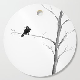 Raven in a Tree Cutting Board